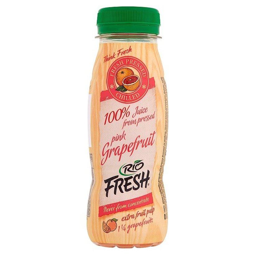 RIO FRESH 100% šťava z ružového grapefruitu priamo lisovaná za studena 200 ml