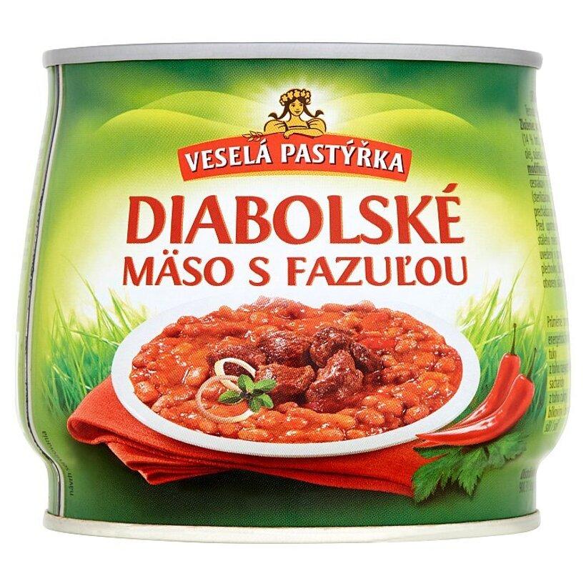 Veselá Pastýřka Diabolské mäso s fazuľou 420 g