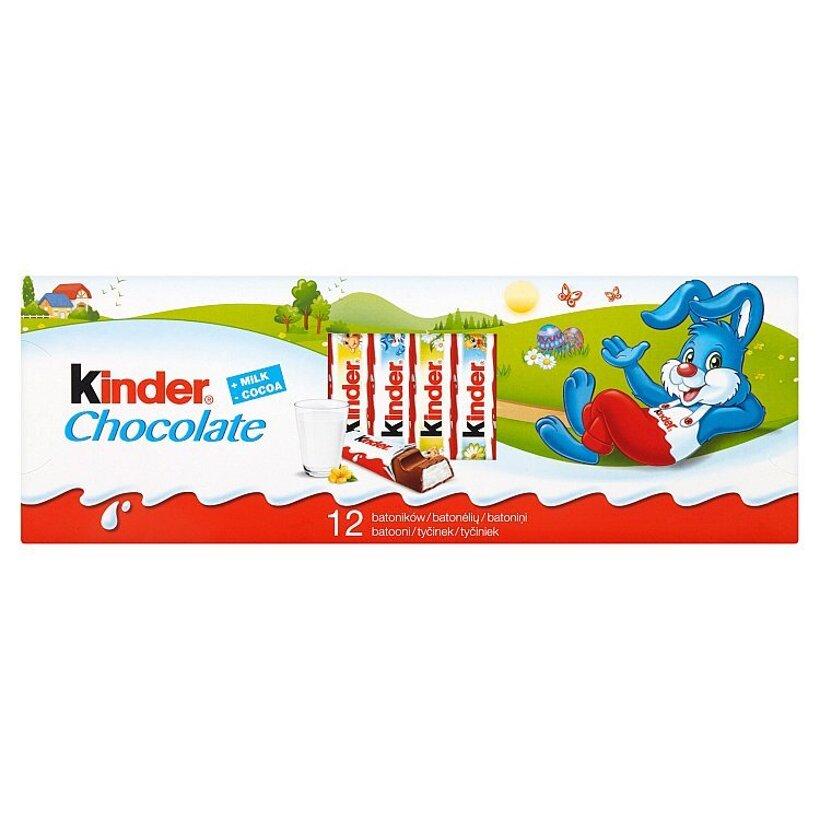 Kinder Chocolate tyčinky z mliečnej čokolády s mliečnou náplňou 12 x 12,5 g