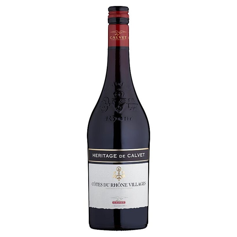 Calvet Heritage de Calvet Côtes du Rhône Village suché červené víno 750 ml