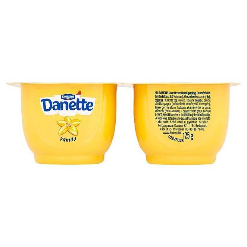 Danone Danette Mliečny dezert s vanilkovou príchuťou 4 x 125 g
