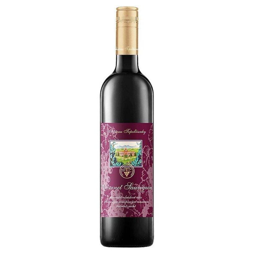 Château Topoľčianky Cabernet Sauvignon slovenské odrodové víno červené suché 0,75 l