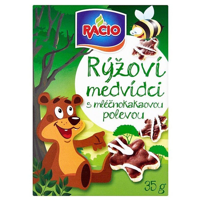 Racio Ryžové medvedíky s mliečnokakaovou polevou 35 g