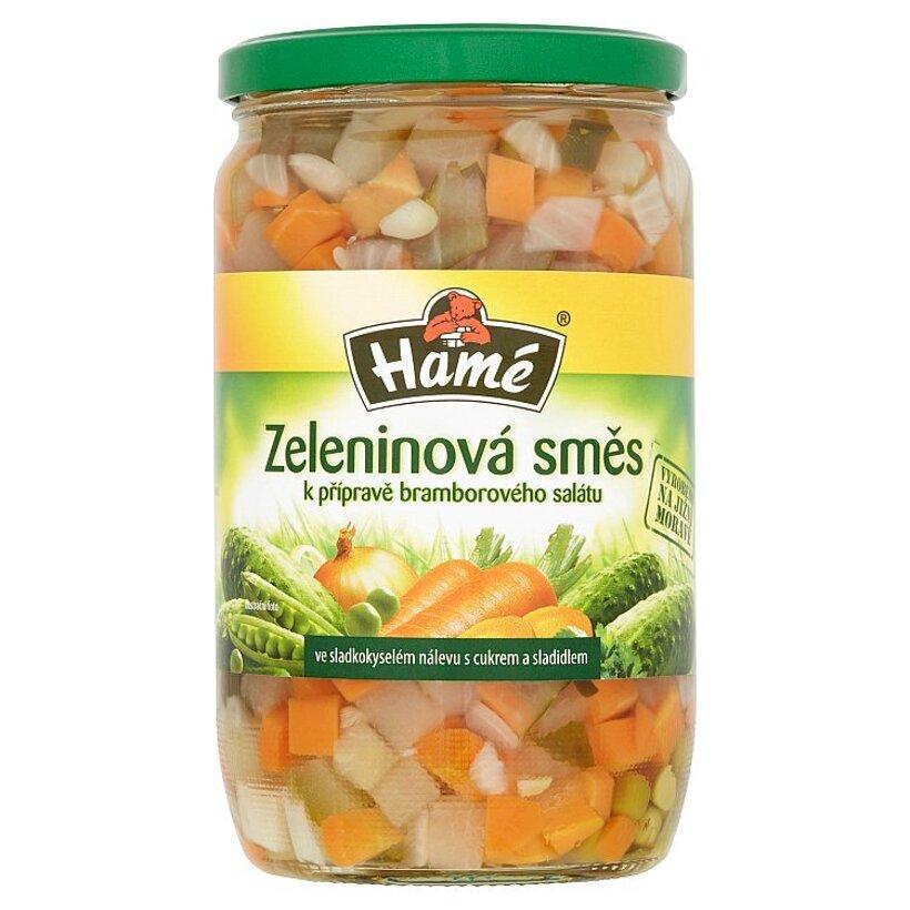 Hamé Zeleninová zmes na prípravu zemiakového šalátu s cukrom a sladidlom 650 g