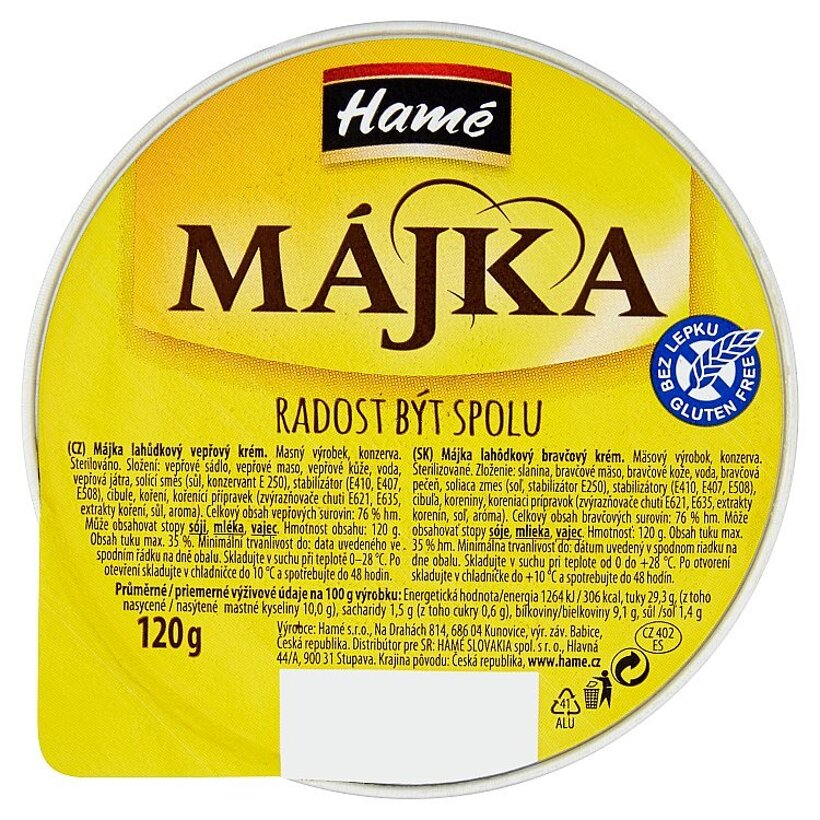 Hamé Májka Lahôdkový bravčový krém 120 g