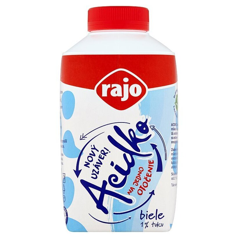 Rajo Acidko Zakysané mlieko biele 1 % tuku 450 ml