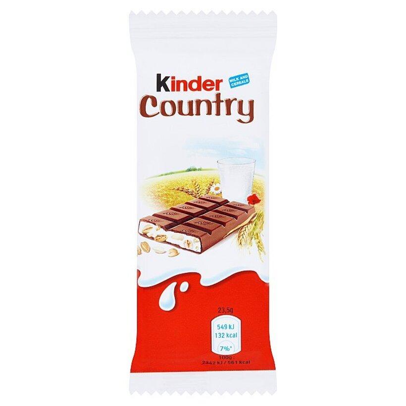 Kinder Country mliečna čokoláda s mliečnou náplňou a cereáliami 23,5 g