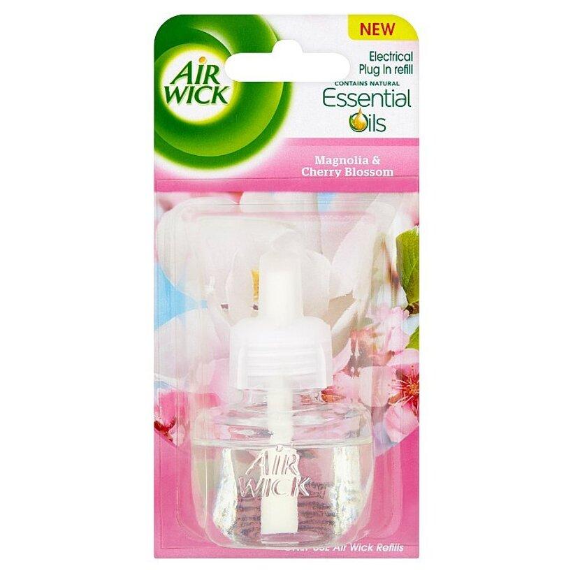 Air Wick Essential Oils Tekutá náplň do elektrického prístroja magnólia a kvitnúca čerešňa 19 ml