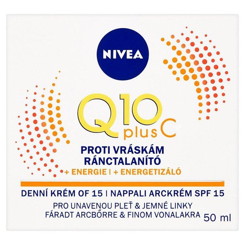 Nivea Q10 Plus C Energizujúci denný krém proti vráskam OF 15 50 ml