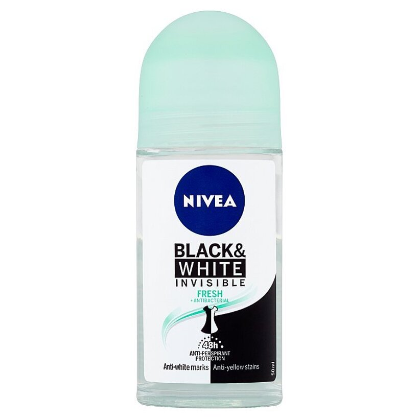 Nivea Black & White Invisible Fresh Guľôčkový antiperspirant 50 ml