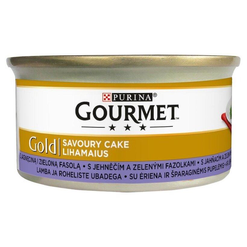 GOURMET Gold Savoury Cake s jahňacím a zelenými fazuľkami 85 g