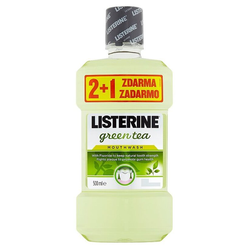 Listerine Green Tea ústna voda 3 x 500 ml