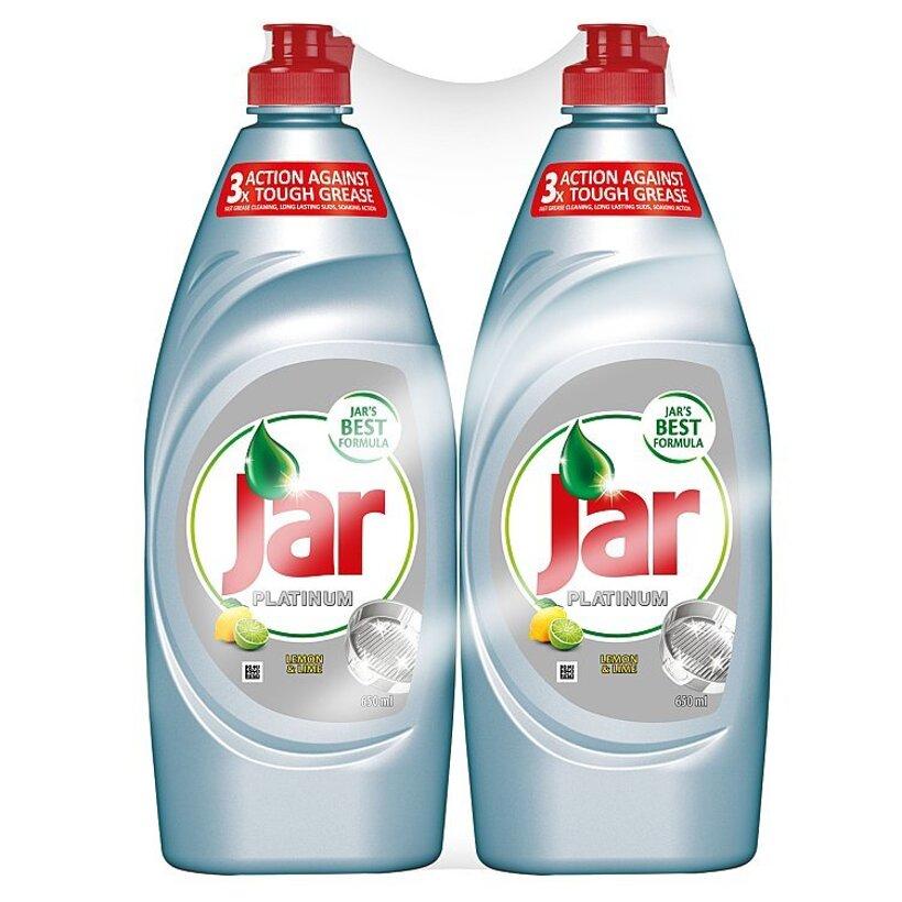 Jar Platinum Lemon & Lime prostriedok na umývanie riadu 2x650 ml