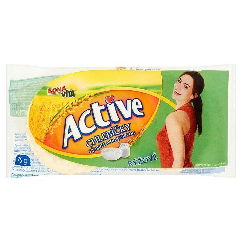 Bona Vita Active Chlebíčky ryžové s jogurtovou polevou 75 g