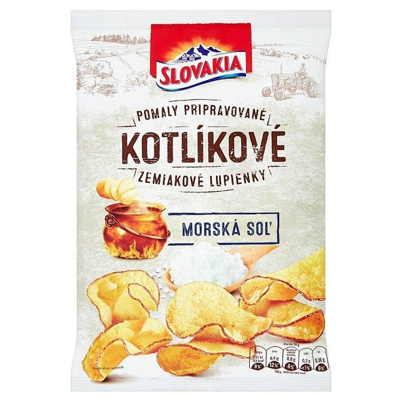 Slovakia Kotlíkové Zemiakové lupienky morská soľ 120 g