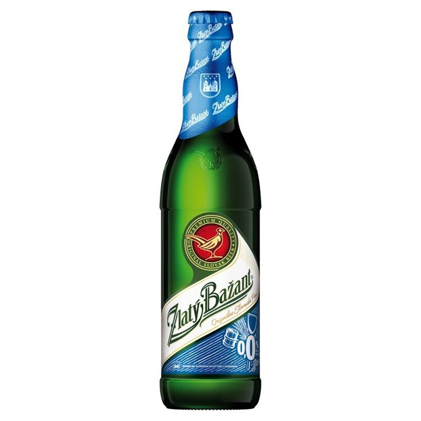 Zlatý Bažant 0,0% svetlé nealkoholické pivo 500 ml