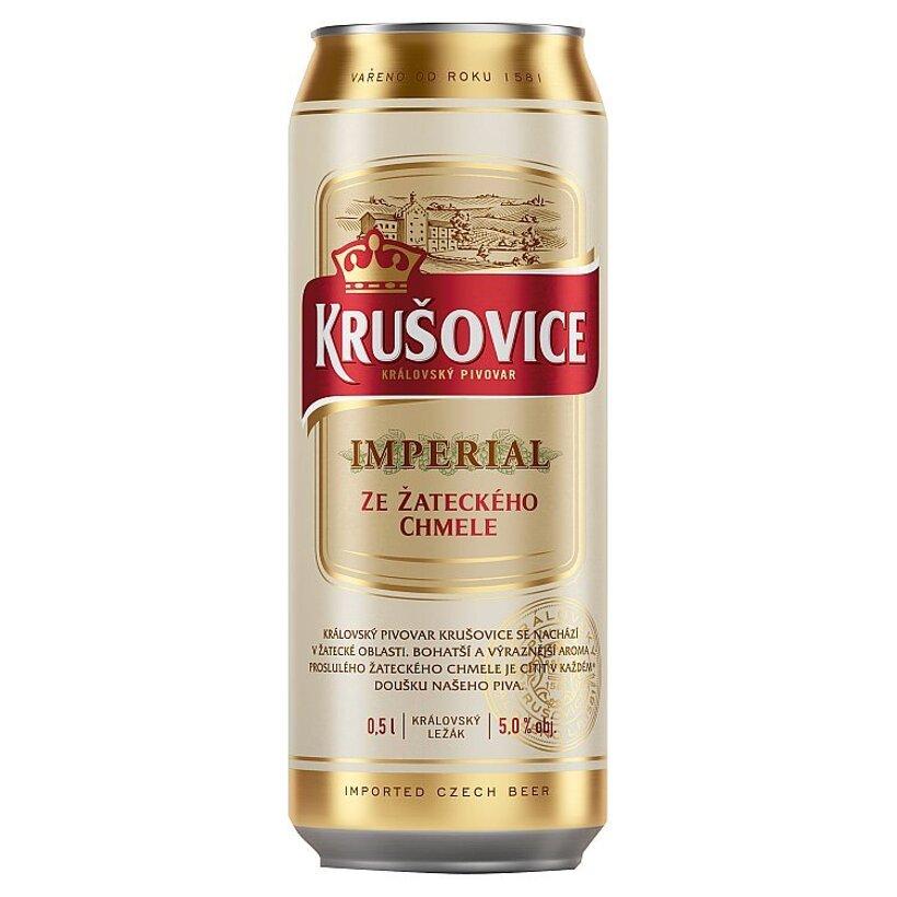 Krušovice Imperial pivo svetlý ležiak 0,5 l