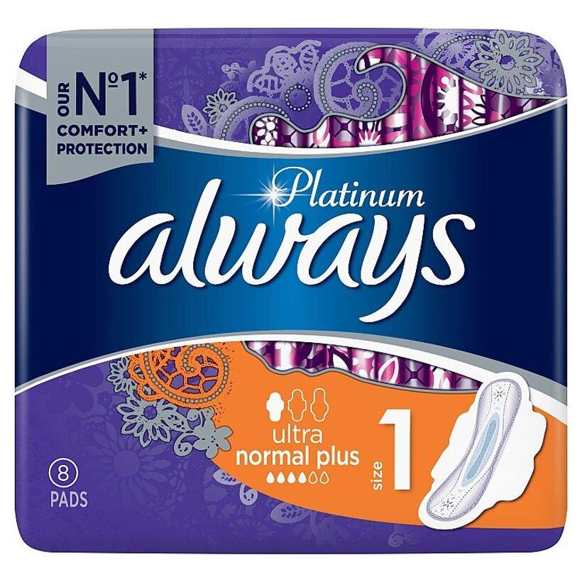 Always Platinum Normal Menštruačné Vložky S Krídelkami (Veľkost 1) 8
