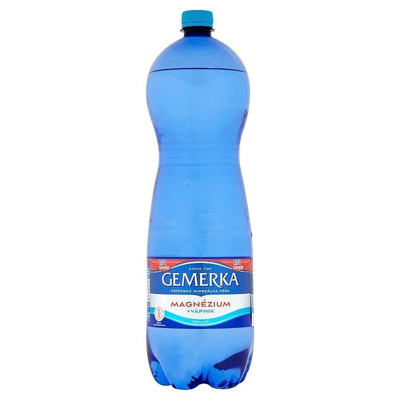 Gemerka Magnézium + vápnik prírodná minerálna voda perlivá 2 l