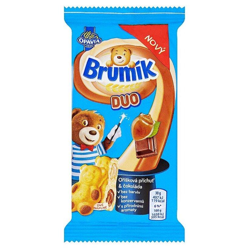 Opavia Brumík Duo oriešková príchuť & čokoláda 30 g