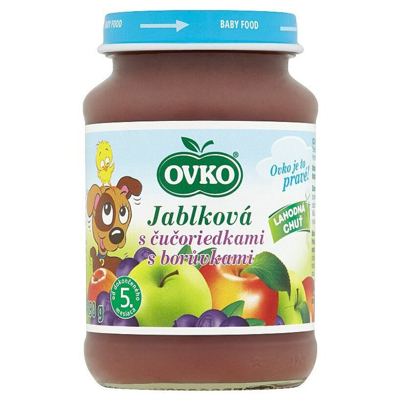 Ovko Jablková s čučoriedkami 190 g