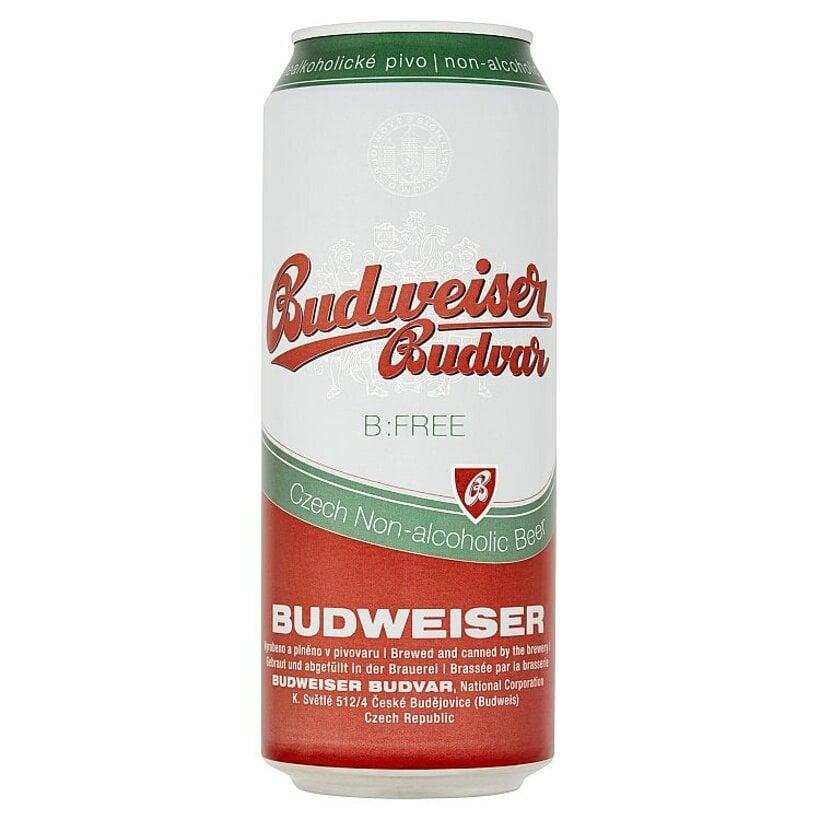 Budweiser Budvar B:Free svetlé nealkoholické pivo 500 ml