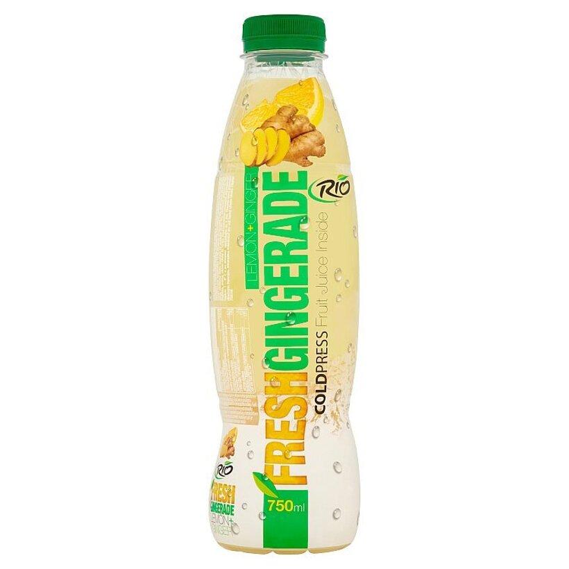 RIO FRESH Gingerade nesýtený ovocný nápoj z citrónovej šťavy a dužiny zázvorový 750 ml