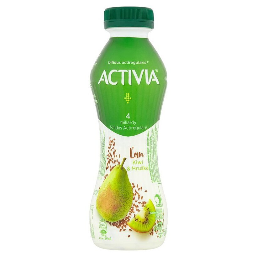 Danone Activia Ľan kiwi & hruška jogurtový nápoj 280 g