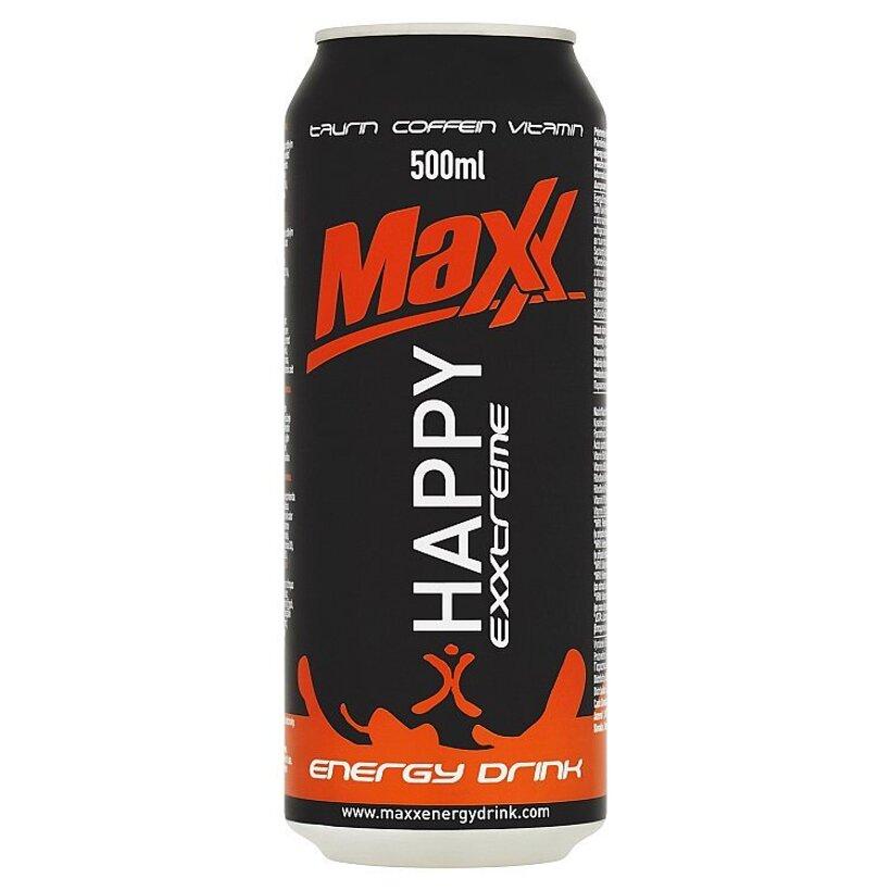 Maxx Exxtreme Happy sýtený energetický nápoj 500 ml