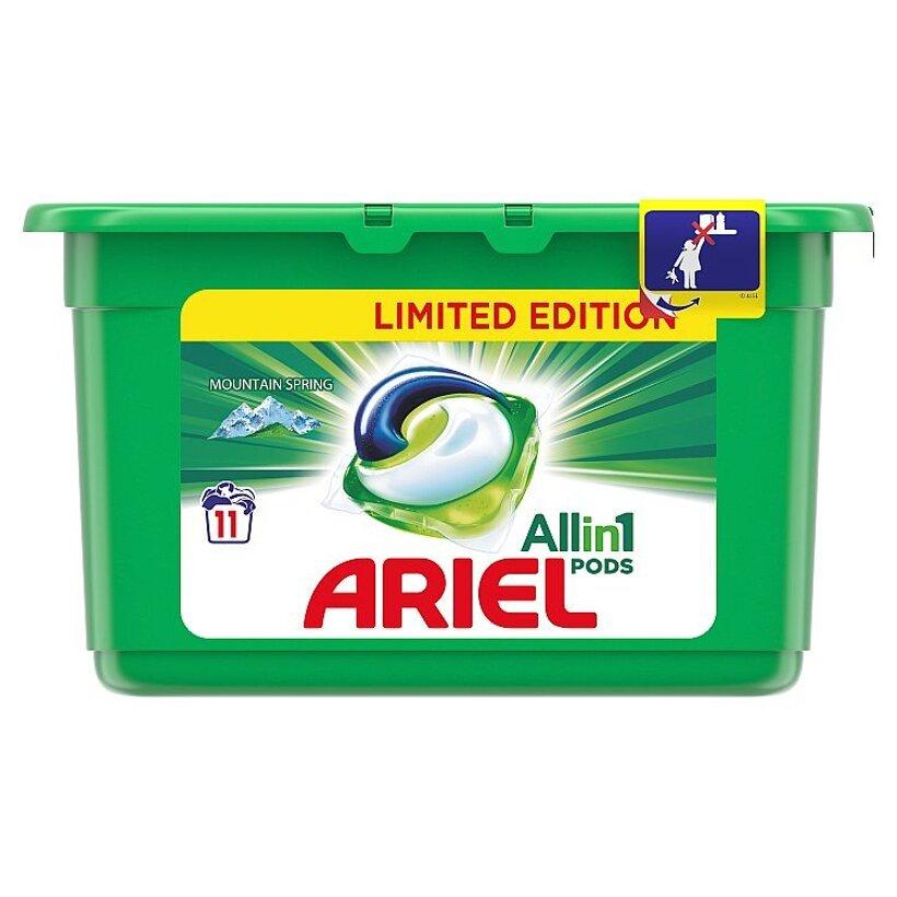 Ariel All In 1 Pods Mountain Spring, Gélové Kapsuly Na Pranie, 11 Praní