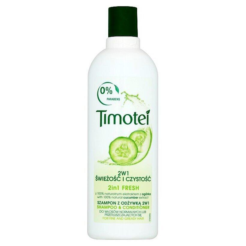 Timotei Sviežosť 2v1 šampón s kondicionérom 400 ml