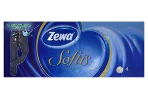 Zewa Softis Papierové vreckovky 4-vrstvové 10 x 9 ks