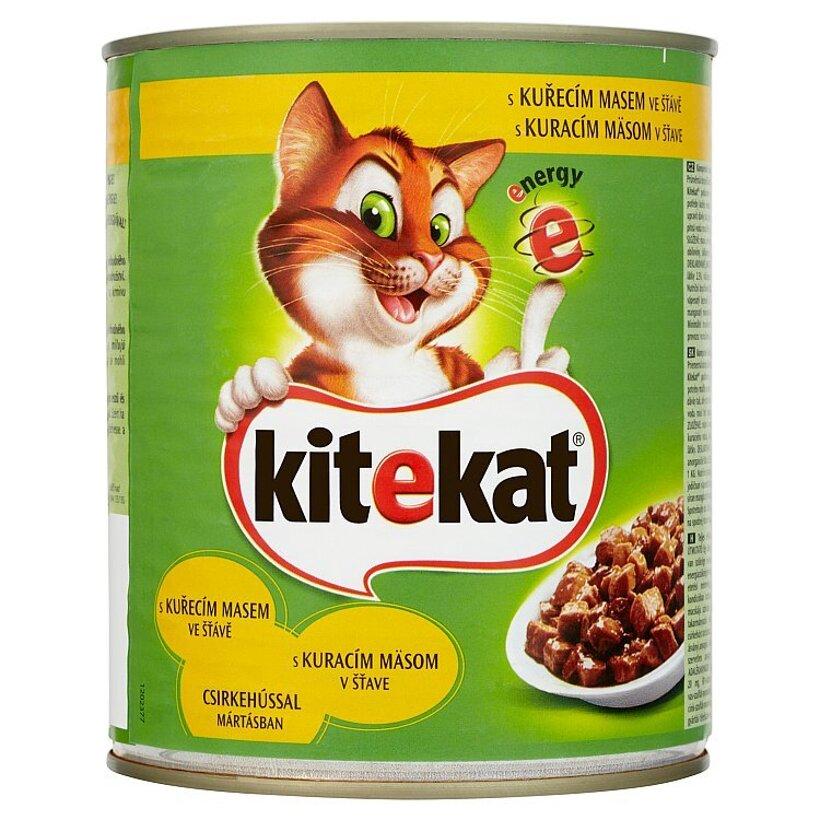 Kitekat Kuracie mäso v šťave kompletné krmivo pre dospelé mačky 800 g