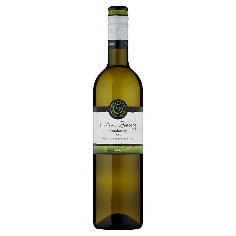 VPS Chateau Zumberg Chardonnay akostné víno odrodové biele suché 0,75 l