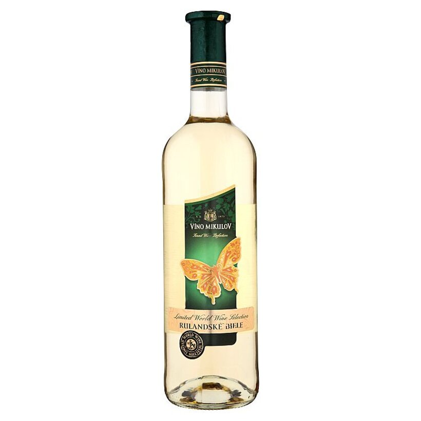 Víno Mikulov Rulandské biele víno biele suché 0,75 l