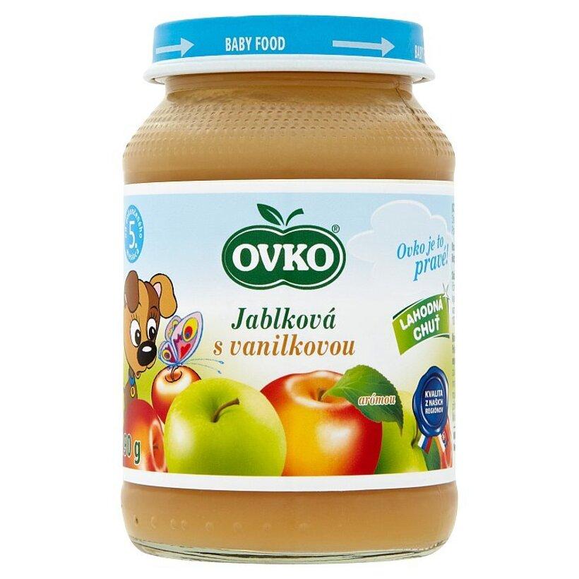 Ovko Dojčenská výživa jablková s vanilkovou arómou 190 g