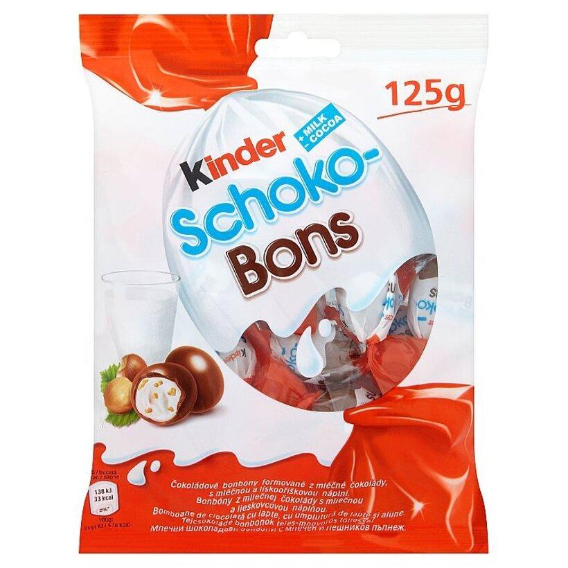 Kinder Schoko Bons bonbóny z mliečnej čokolády s mliečnou a lieskovcovou náplňou 125 g