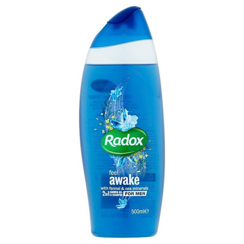 Radox Feel awake 2v1 pánsky sprchovací gél a šampón 500 ml