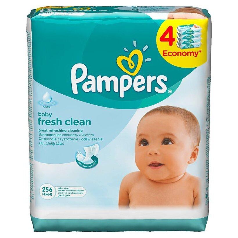 Pampers Vlhčené Obrúsky Baby Fresh 4 x 64 ks
