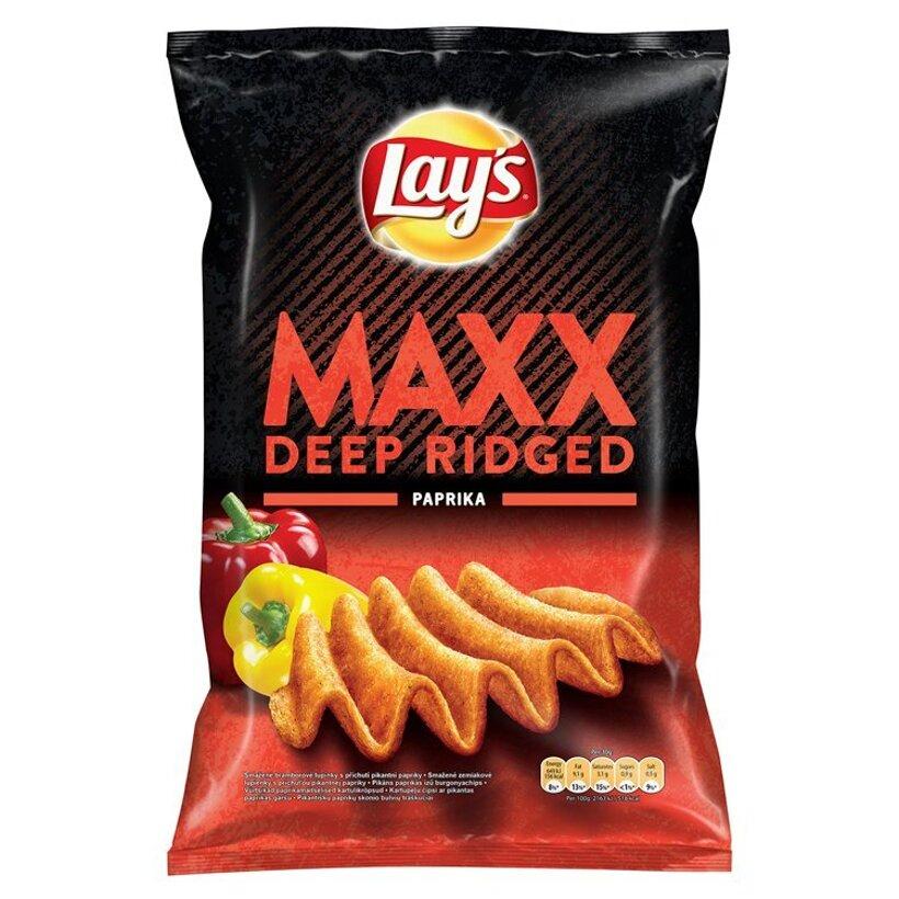 Lay's Maxx Smažené zemiakové lupienky s príchuťou pikantnej papriky 140 g