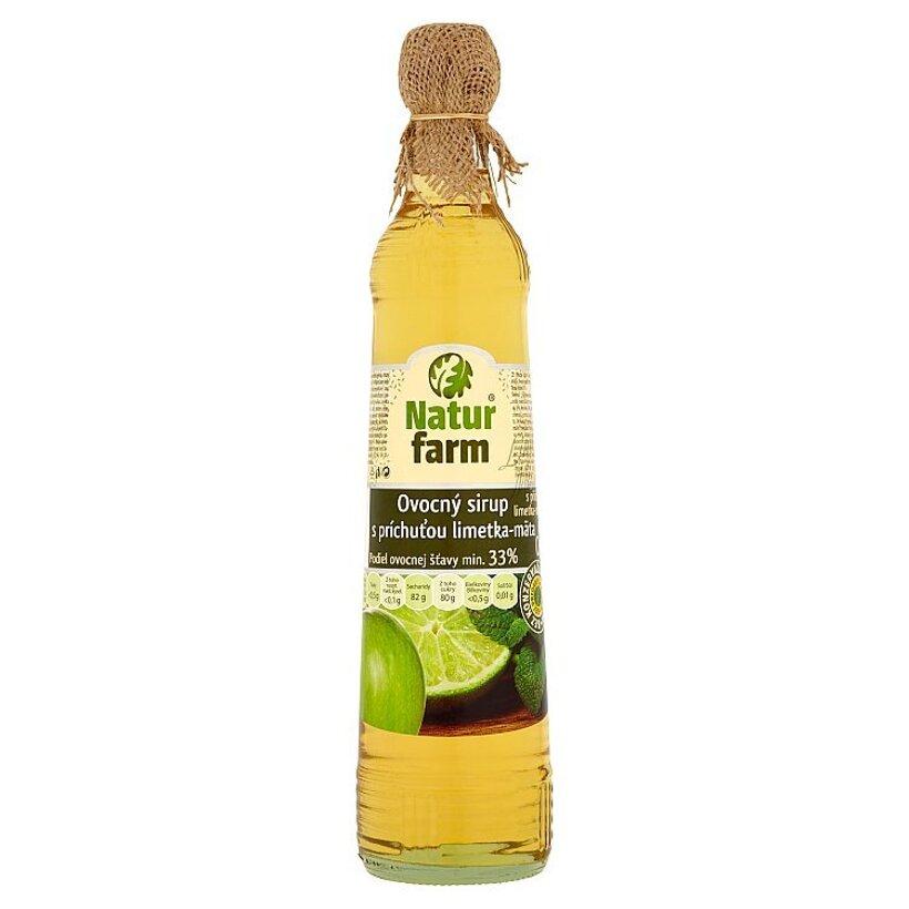 Natur Farm Ovocný sirup s príchuťou limetka-mäta 0,7 l