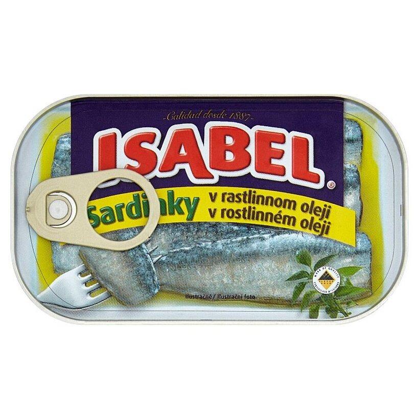 Isabel Sardinky v rastlinnom oleji 125 g