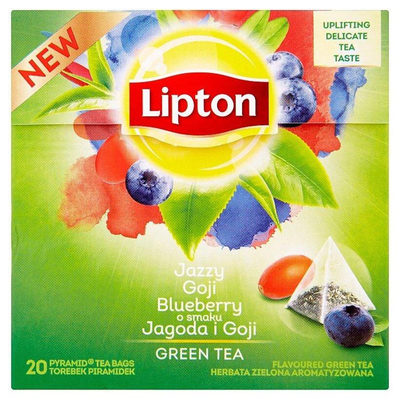 Lipton Jazzy Goji zelený čaj aromatizovaný 20 vrecúšok 28 g