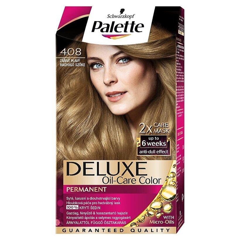 Schwarzkopf Palette Deluxe farba na vlasy Žiarivý Blond 408
