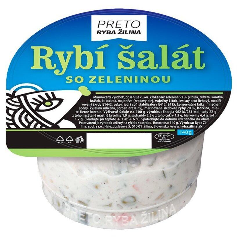 Ryba Žilina Preto Rybí šalát so zeleninou 140 g