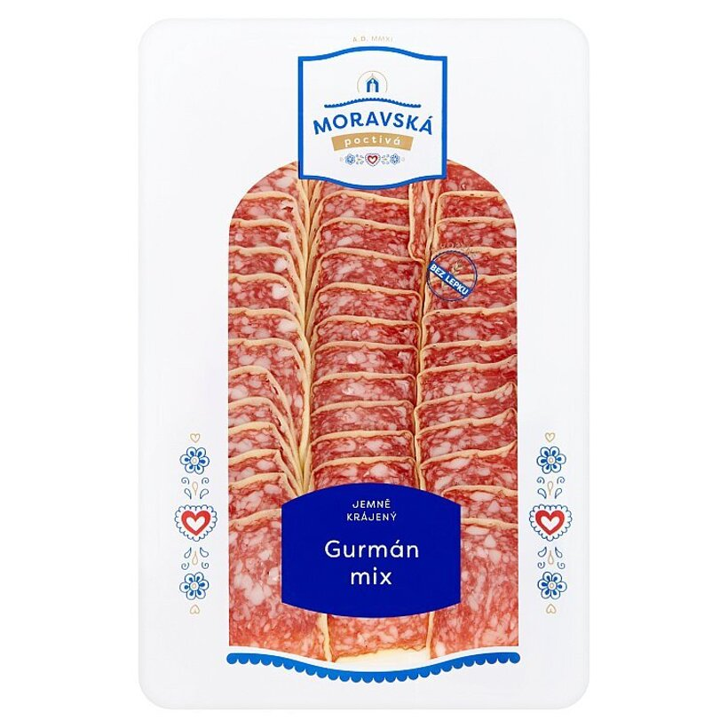 Poctivá Moravská Gurmán parmezán nárez 75 g