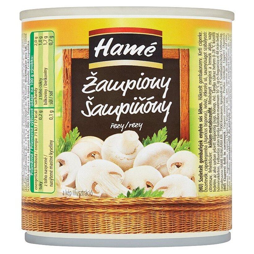 Hamé Šampiňóny rezy 184 g