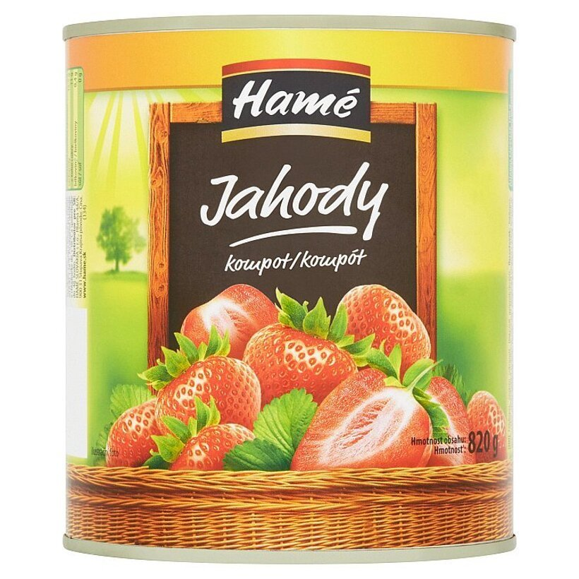 Hamé Jahody kompót 820 g