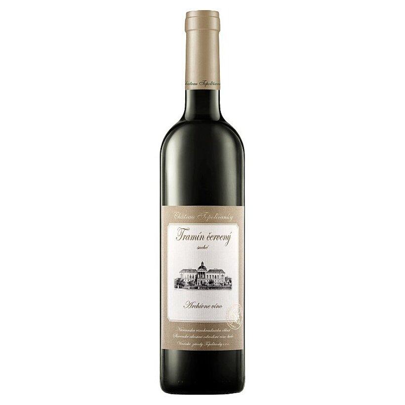 Château Topoľčianky Tramín červený slovenské akostné odrodové suché biele víno 0,75 l