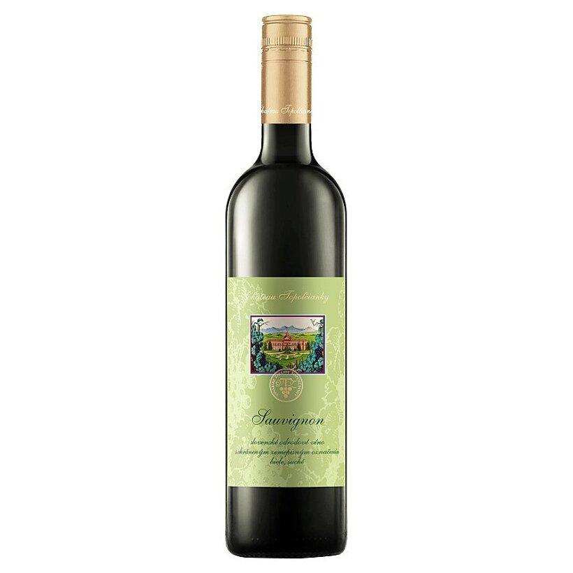 Château Topoľčianky Sauvignon slovenské odrodové víno biele suché 0,75 l